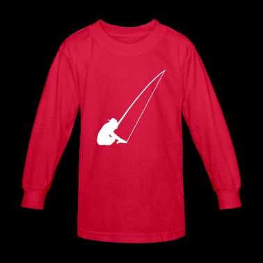 Red Fishing Kids Shirts