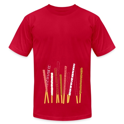 Candy Coated Sticks of Happiness (Men's AA Brand Pink) - Men's Fine Jersey T-Shirt