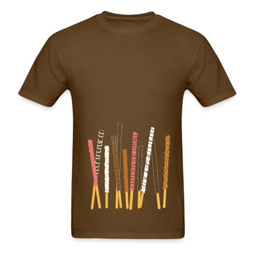 Candy Coated Sticks of Happiness (Men's Standard Weight Tee Pink) - Men's T-Shirt