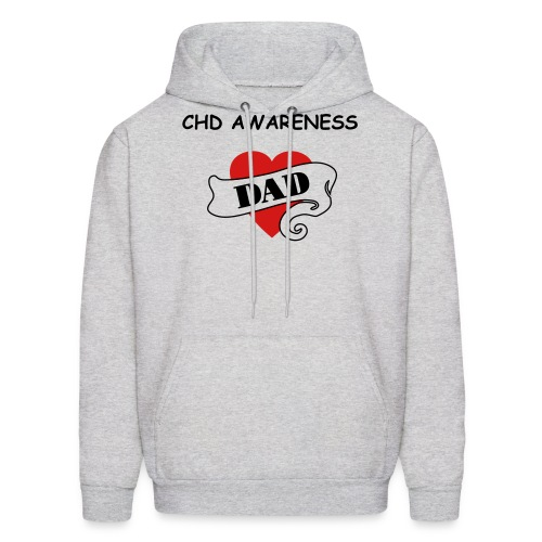 HEART DAD MENS HOODED SWEATSHIRT - Men's Hoodie