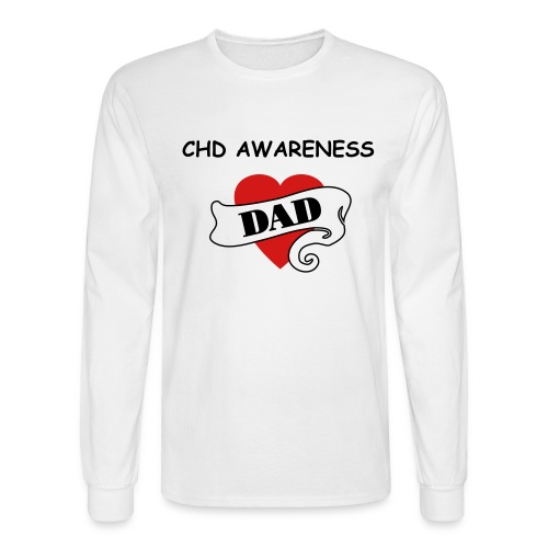 HEART DAD MENS LONG SLEEVE TEE - Men's Long Sleeve T-Shirt