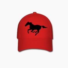 Red Horse at galopp Caps