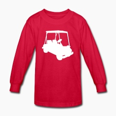 Red Golf cart Kids Shirts