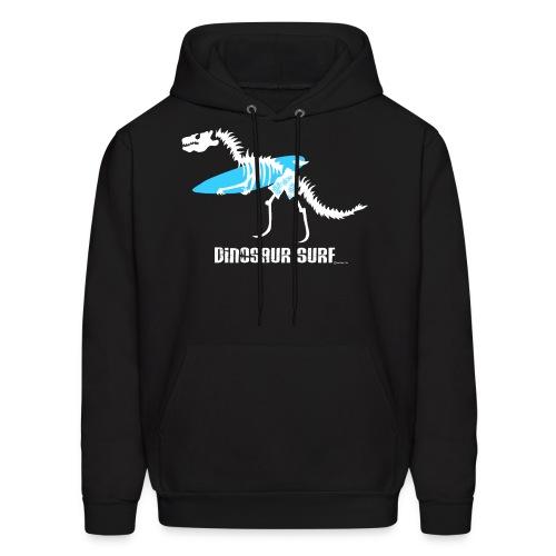 Dinosaur Surf Hoodie - White Print - Men's Hoodie