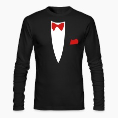 Black Funny Joke Tux Gag T-shirts Long sleeve shirts