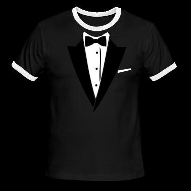 Black/white Hilarious Tuxedo Shirt T-Shirts