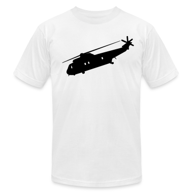 White Cool Military helicopter Flex Graphic T-Shirts