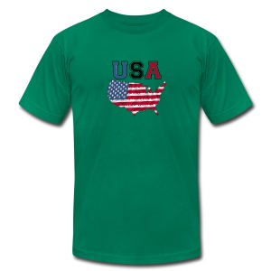 Men's slimfit t-shirt USA - Men's T-Shirt by American Apparel