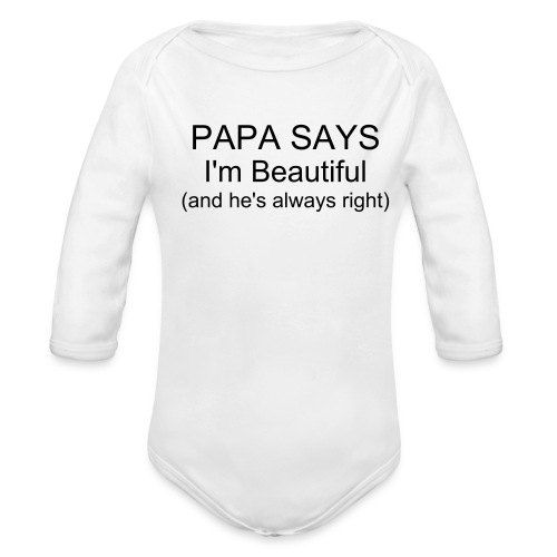 I'm Beautiful - Organic Long Sleeve Baby Bodysuit