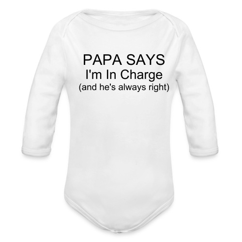 I'm In Charge - Organic Long Sleeve Baby Bodysuit