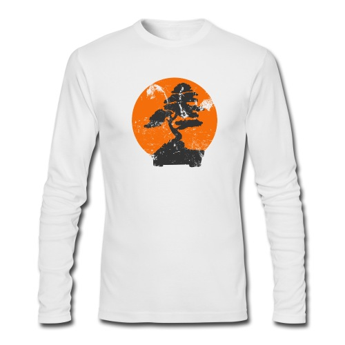 Bomsai tree faded Graphic - Men's Long Sleeve T-Shirt by Next Level