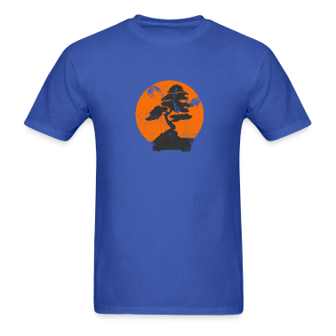 Royal blue Miyagi Banzai Tree Karate Kid Patch T-Shirts
