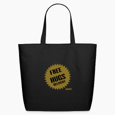 Black free hugs delivery by wam Bags