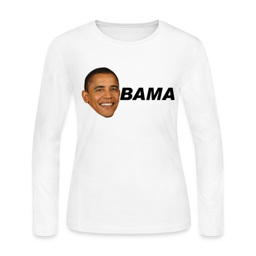 Obama Long Sleeve Jersey Tee Women's - Women's Long Sleeve Jersey T-Shirt