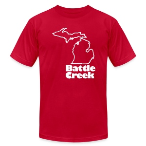 Battle Creek Brown Mens - Men's T-Shirt by American Apparel