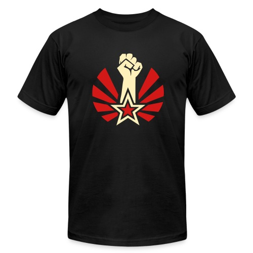 Raised & Clenched Fist Jersey Tee Shirt - Men's Fine Jersey T-Shirt