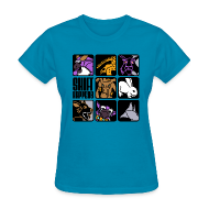Women's T-Shirts ~ Women's T-Shirt ~ Shift Happens Grid (Black Text)