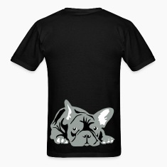 Black French Bulldog big T-Shirts