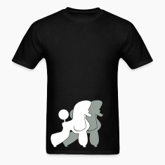 Black Two Poodle  T-Shirts