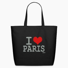 Black I love Paris by wam Bags