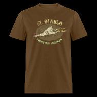 T-Shirts ~ Men's T-Shirt ~ EL DIABLO FIGHTING CHICKEN T-Shirt - Vintage Style