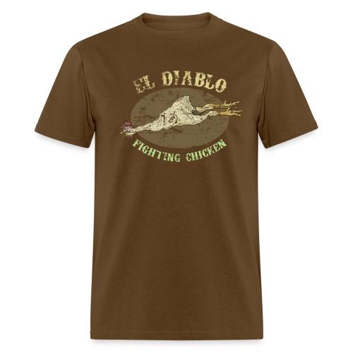 EL DIABLO FIGHTING CHICKEN T-Shirt - Vintage Style - Men's T-Shirt