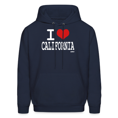 Navy i love california by wam Hoodies
