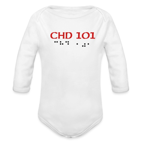 CHD 101 LONGSLEEVE ONE SIZE - Organic Long Sleeve Baby Bodysuit