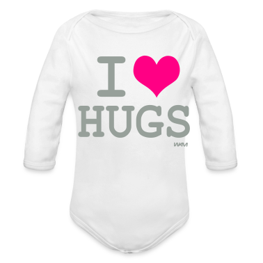 White i love hugs by wam Baby Body