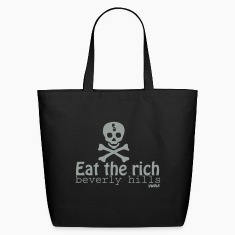 Black eat the rich by wam Bags