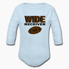 Powder blue Wide Receiver With Football Baby Body