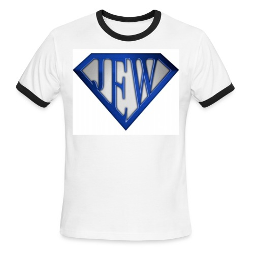 superjew blue men's ringer - Men's Ringer T-Shirt