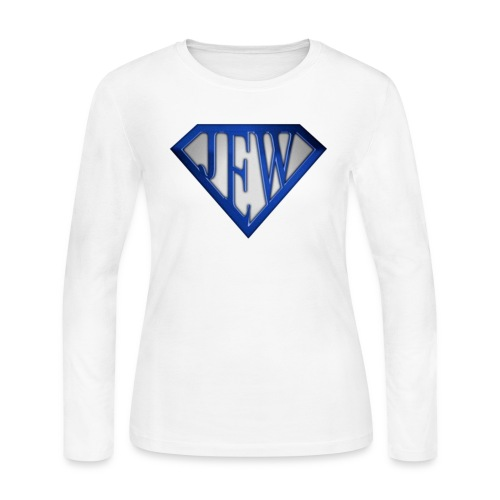 superjew blue women's long sleeve - Women's Long Sleeve Jersey T-Shirt