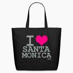 Black i love santa monica by wam Bags