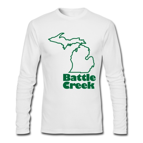 Battle Creek Long Sleeve Mens - Men's Long Sleeve T-Shirt by Next Level