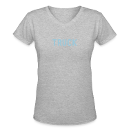 T-Shirts ~ Women's V-Neck T-Shirt ~ Truck Women's V-neck T