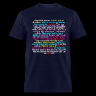 T-Shirts ~ Men's T-Shirt ~ THE BEST LEBOWSKI QUOTES (UNCENSORED) T-Shirt
