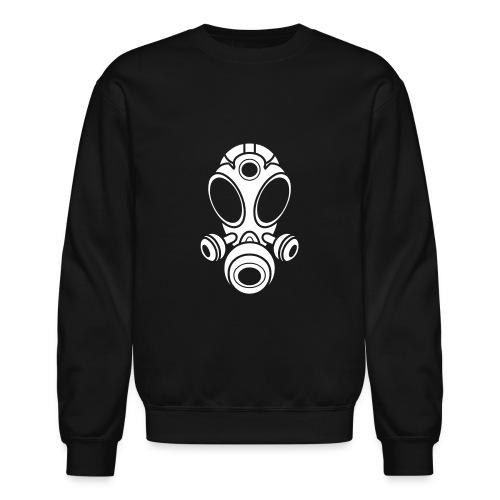 Gas Mask Sweatshirt -White Logo- (Men's) Available in 4 colors - Crewneck Sweatshirt