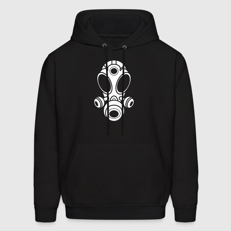 Gas Mask Hoodie -White Logo- (Men's) Available in 8 colors - Men's Hoodie