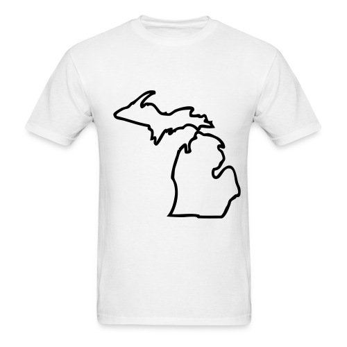 Michigan Outline Tee - Men's T-Shirt