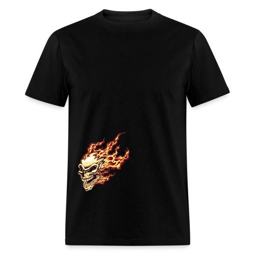 flamming skull - Men's T-Shirt