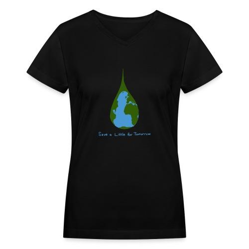 Earth Drop - Women's V-Neck T-Shirt