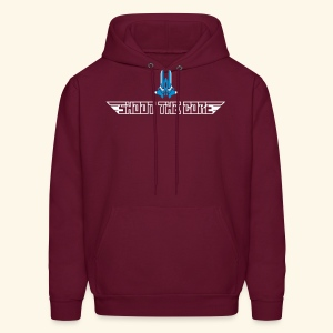 Shoot the core, back- & frontprint - Men's Hoodie
