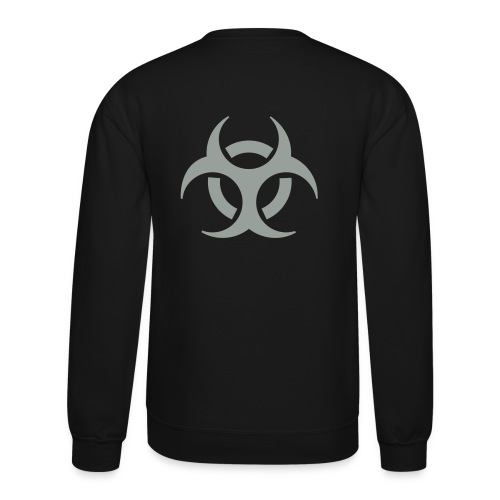 Crewneck Sweatshirt - Flex Print, 7.9 inch x 7.0 inch, Biohazard
