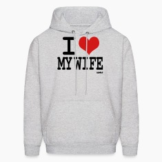 Ash  i love my wife by wam Hoodies