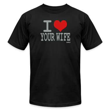 Black i love your wife by wam T-Shirts