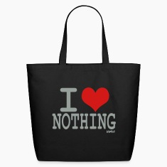 Black i love nothing by wam Bags