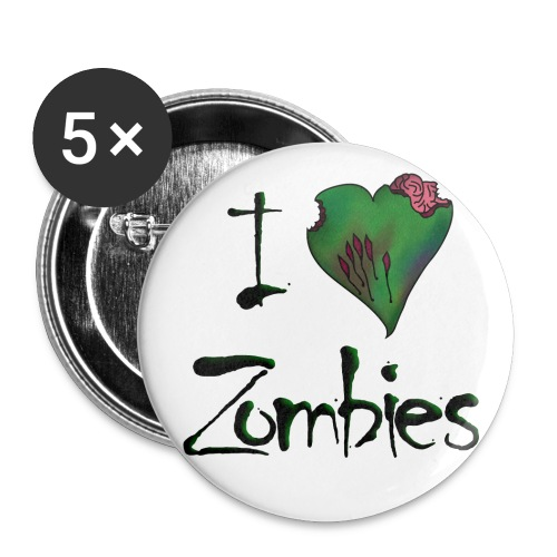 I love zombies - Buttons large 2.2'' (5-pack)