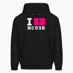 Black i love house music Hoodies