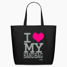 Black i love my handbag by wam Bags